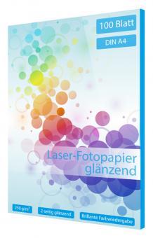 Laser Fotopapier DIN A4 - glänzend - 250g - 100 Blatt