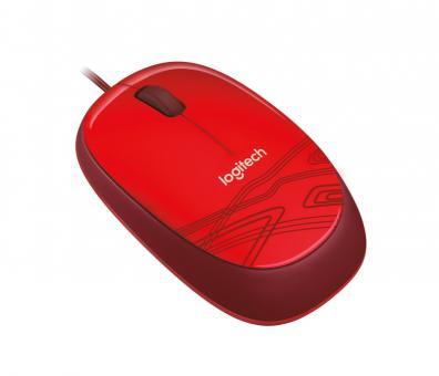 Logitech M105 USB Maus Rot