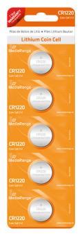 MediaRange Lithium Batterie Knopfzelle CR1220 - 5 Stück