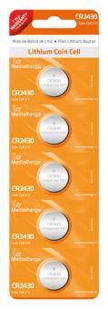 MediaRange Lithium Batterie Knopfzelle CR2430 - 5 Stück