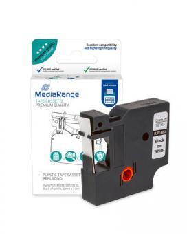 MediaRange Etiketten kompatibel Dymo D1 45013 12 mm x 7 m Label Cassette