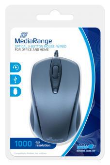 MediaRange optische 3-Tasten Maus mit Kabel