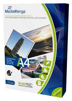 MediaRange Fotopapier DIN A4 - matt - 130g - 100 Blatt