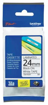 Original Brother Schriftbandkassette TZE-FX251 24mm