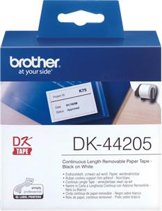Original Brother Endlos-Etikett DK-44205 Tape (wiederablösbar)
