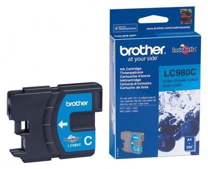 Original Brother Patronen LC980 C Cyan