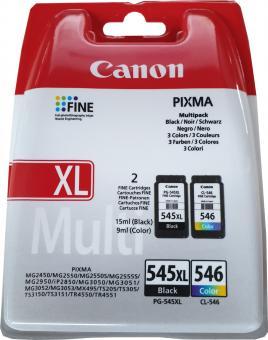 Original Canon Patronen PG-545 XL + CL-546 Set