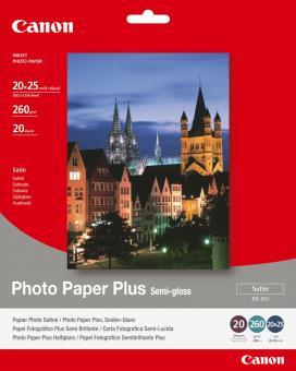 Canon Fotopapier 20 x 25 / SG-201 - semi glänzend - 260g - 20 Blatt