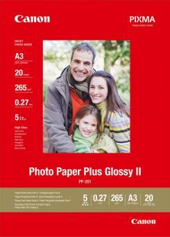 Canon Fotopapier DIN A3 / PP-201 - glänzend - 265g - 20 Blatt 2311B020