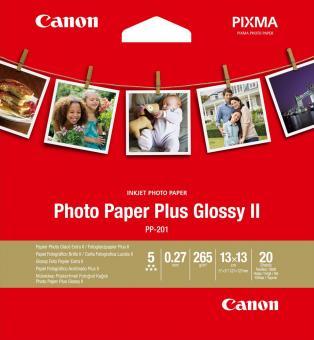 Canon Fotopapier 13 x 13 / PP-201 - glänzend - 265g - 20 Blatt