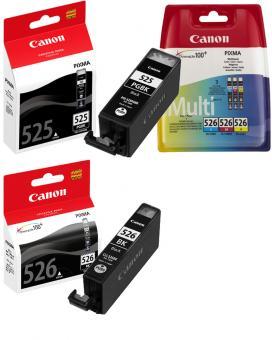 5x Original Canon Druckerpatronen PGI 525bk CLI 526 Set