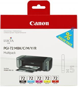 Original Canon Patronen PGI-72 6403B007 PBK/GY/PM/PC/CO Set