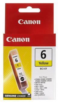 Original Canon Patronen BCI 6Y 4708A002AA Gelb