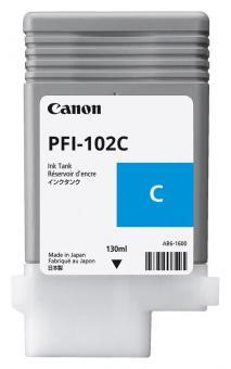 Original Canon Tintenpatrone PFI-102C / 0896B001 Cyan