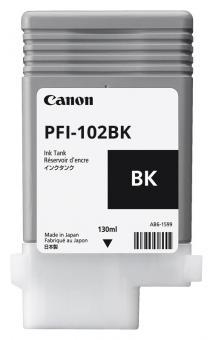 Original Canon Tintenpatrone PFI-102BK / 0895B001 Schwarz