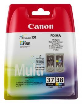 Original Canon Patronen PG37 + CL38 Multipack