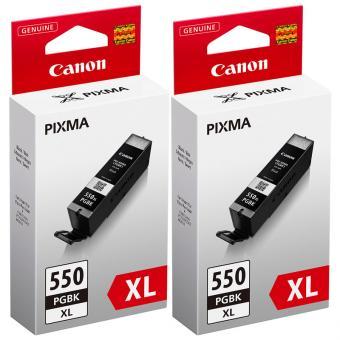 Original Canon Set Doppelpack PGI-550BK Druckerpatronen Schwarz