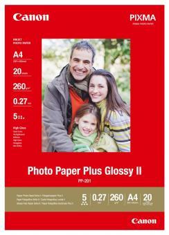 Canon Fotopapier DIN A4  / PP-201 - glänzend - 260g - 20 Blatt