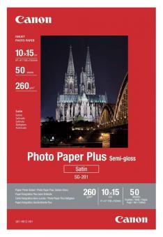 Canon Fotopapier 10 x 15 / SG-201 - semi glänzend - 260g - 50 Blatt