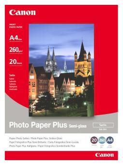 Canon Fotopapier DIN A4 / SG-201 - glänzend - 260g - 20 Blatt