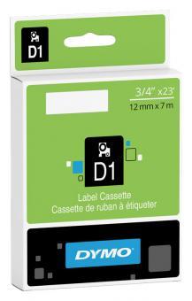 Original Dymo D1 Etiketten Label Cassette 45020 12 mm x 7 m