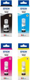 Set Original Epson Tinte 102 BK C M Y
