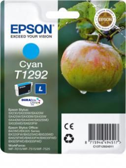 Original Epson Patronen T1292 Cyan