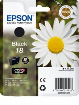 Original Patronen Epson T1801 18 Schwarz
