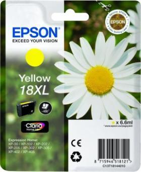 Original Patronen Epson T1814 18 XL Gelb