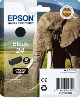 Original Patronen Epson Nr. 24 (Elefant) Schwarz
