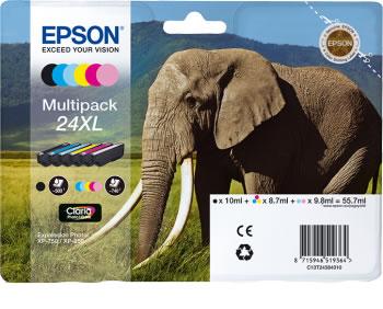 Original Patronen Epson T2438 (Elefant) Set XL
