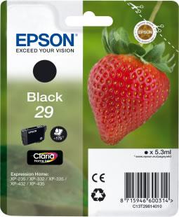 Original Epson Patronen 29 T2981 (Erdbeere) Schwarz