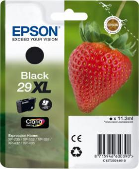 Original Epson Patronen 29 XL T2991(Erdbeere) Schwarz