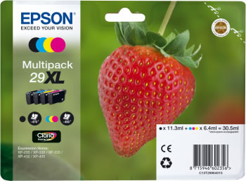 Original Epson Patronen 29 XL T2996 (Erdbeere) Mehrfarbig Set