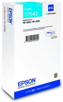 Original Epson Patronen T7542 XXL Cyan