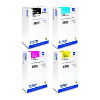 Original Epson T7541 T7542 T7543 T7544 XXL 4er Set