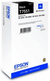 Original Epson Patronen T7551 XL Schwarz