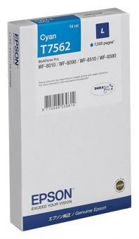 Original Epson Druckerpatrone T7562 / C13T756240 Cyan