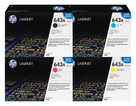 Set Original Toner HP 643A Q5950A+Q5951A+Q5952A+Q5953A