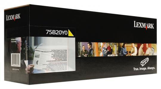 Original Lexmark Toner 75B20Y0 Gelb