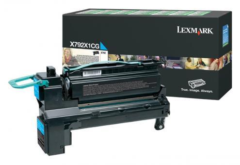 Original Lexmark Toner X792 X792X1CG Cyan