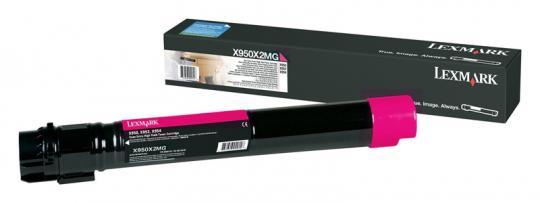 Original Lexmark Toner X950X2MG Magenta