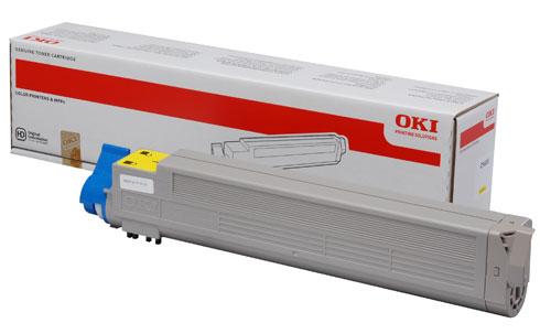 Original Oki Toner 43837129 Gelb