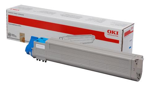 Original Oki Toner 43837131 Cyan