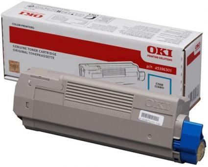 Original Oki Toner 45396303 Cyan
