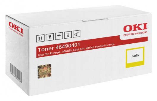 Original OKI Toner 46490401 Gelb