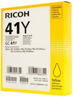 Original Ricoh Patronen GC 41Y 405764 Gelb / Yellow
