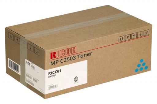 Original Ricoh Toner MP C2503 / 841931 Cyan