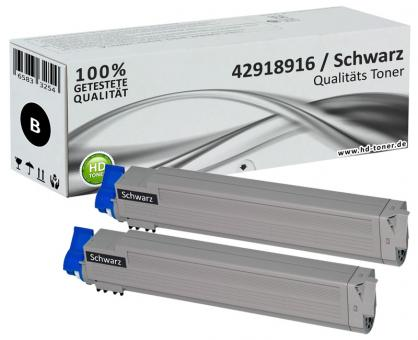 Alternativ OKI Toner C9600 C9650 C9800 C9850 Schwarz Doppelpack