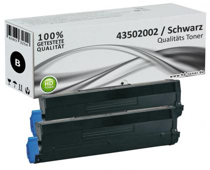 Set 2x Alternativ Toner OKI 43502002 XL Schwarz